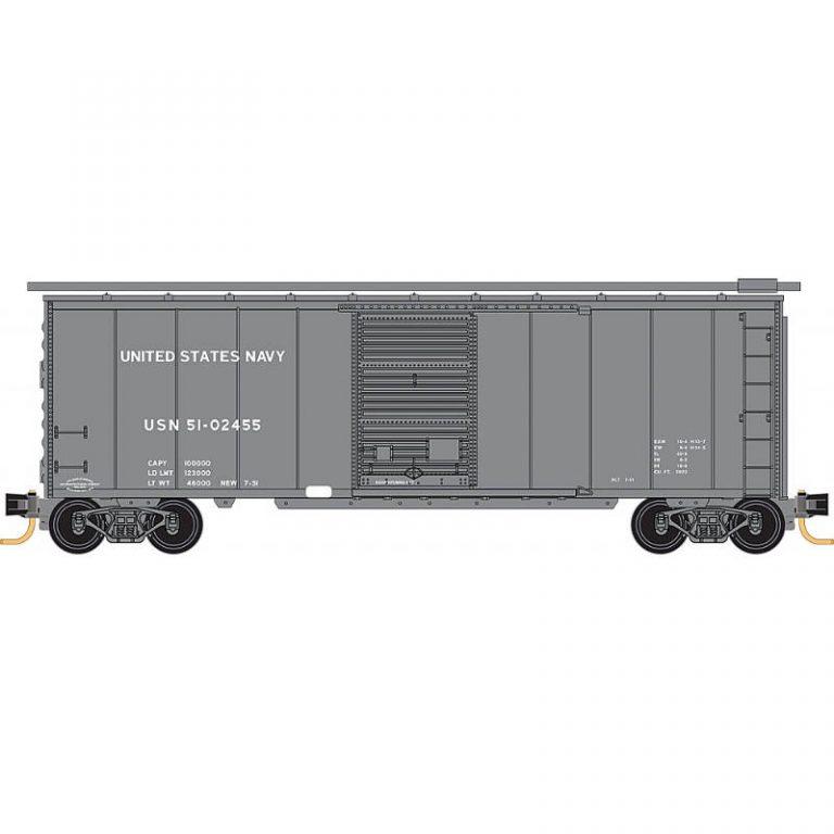 Military 40' Box Car – US Navy Rd#51-02455