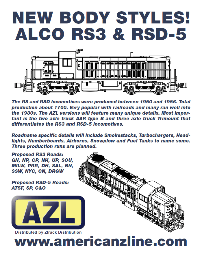 New Locomotive Body Style Coming From American Z Line